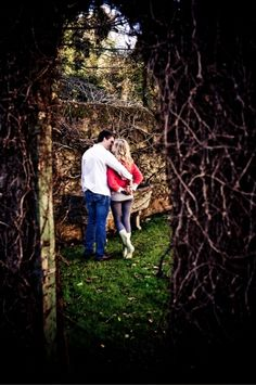 Country Chic Photo Shoot Inspiration - Romantic moments are shared between Thomas and Gita during their country-chic inspired photoshoot #country #chic #photoshoot