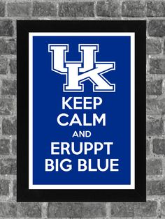 Keep Calm Kentucky Wildcats NCAA Print Art 11x17. $14.99, via Etsy.