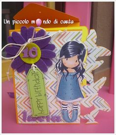 #Scrapbookingcard #Gorjuss #girlcard #birthdaycard #unpiccolomondodicarta