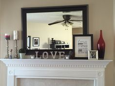 Valentineu0027s Mantel Roundup | For The Home | Pinterest | Map Frame, Mantels  And Globe