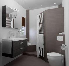 Kleine badkamer met inloopdouche (Van Sani-bouw)