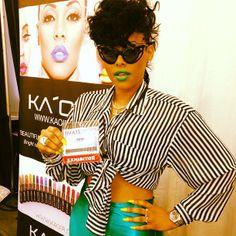 kaoir:KEYSHIA KA'OIR at the IMATS make up show!