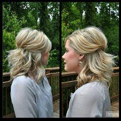 Shoulder length layered hair cut