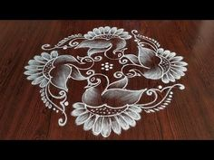 Easy chukkala muggulu Easy rangoli Simple rangoli Thanks for watching 🙏🙏 Please like share comment below for more v. Indian Rangoli Designs, Rangoli Designs Latest, Simple Rangoli Designs Images, Rangoli Designs Flower, Rangoli Designs With Dots, Rangoli With Dots, Beautiful Rangoli Designs, Kolam Dots, Small Rangoli