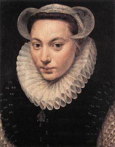 Portrait of a Young Woman, 1581, by Frans Pourbus