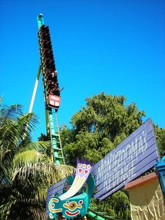 Back spike on shuttle coaster Montezooma's Revenge at Knott's Berry Farm, California - finally got to ride this classic in 2013
