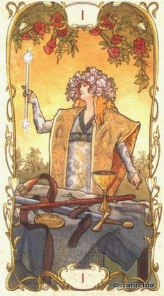 The Magician - Tarot Mucha by Lunaea Weatherstone