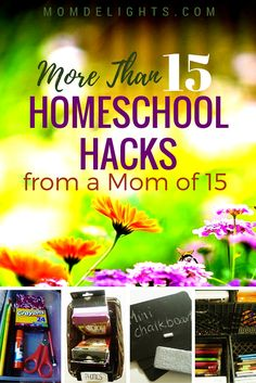 It doesn't take a genius to educate a large family at home, but it does take quite a bit of focus and ingenuity. Here are some homeschool hacks to help.