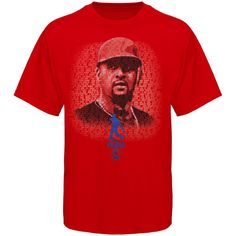 MLB Albert Pujols Los Angeles Angels of Anaheim Player Poster Series T-Shirt - Red