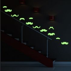 Stickers muraux phosphorescent -  Sticker phosphorescent 30 moustaches Ambiance Sticker, Les Stickers, Decoration Stickers, Glow, Moustaches, Firefighter, The Darkest, 30th, Child Room