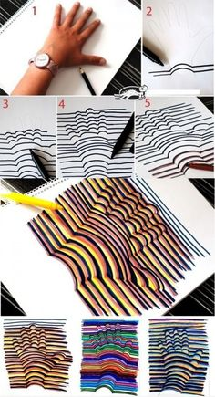 DIY 3D hand drawing,