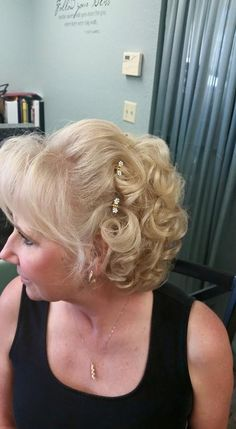 Updo hair style for mother of the bride, by Melony Terry
