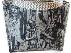 Zombie tote bag Alexander Henry fabric bag Zombie by GeekyGirlM