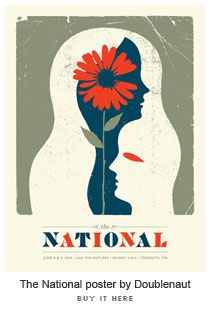 The National Poster (sucker for music-related posters)