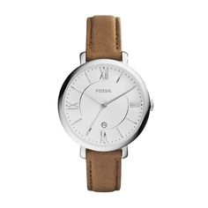 Fossil Jacqueline - Women Wrist Watch on YOOX. The best online selection of Wrist Watches Fossil. Fossil Jacqueline, Brown Leather Strap Watch, Fossil Watches, Women's Watches, Wrist Watches, Watches Online, Saddle Leather, Tan Leather, Online Shopping