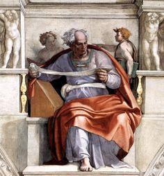 Michelangelo Buonarroti 1475 – 1564  The Prophet Joel  Fresco — 1508-1512  Sistine Chapel, Vatican City