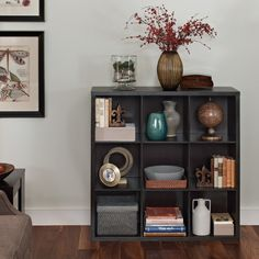 Features:  -Sturdy frame provides versatile storage options.  -Comes with full backer on each unit.  Product Type: -Cube unit.  Style: -Contemporary.  Frame Material: -Wood.  Shelving Included: -Yes.