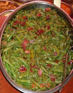 Judía verde con jamón serrano