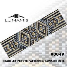 Peyote bracelet pattern odd count peyote par LunamisBeadsPatterns