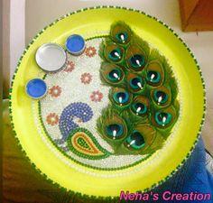Aarti Thali Decoration Ideas for Janmashtami