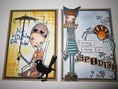 Artwork created by Marilyn Valadez using rubber stamps designed by Daniel Torrente for Stampotique Originals