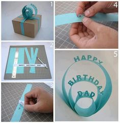 SUCH A COOL IDEA for wrapping a present! :D