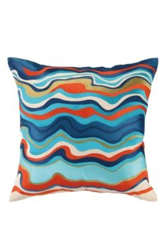 20 inch square.  Waterflow Pillow  $178 Trina Turk