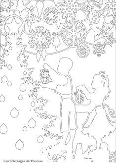 Cadre de Noël en Kirigami Kirigami Patterns, Card Patterns, 3d Cards, Pop Up Cards, Christmas Crafts, Christmas Decorations, Xmas, Pop Up Card Templates, Paper Cut Design
