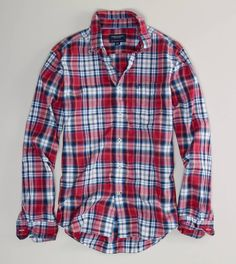 AE Plaid Button-Down. need 5, light weight too.