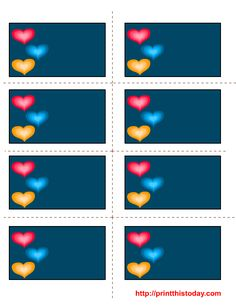 Blue Valentine's Labels for the girl who Hates Valentines, pink and anything girly! Perfect!