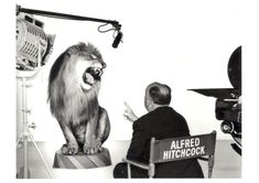 Alfred Hitchcock directing the MGM Lion. | 15 British Photos That Just Can't Be Explained