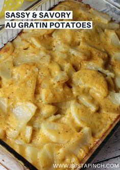 These homemade au gratin potatoes are definitely sassy and savory, I literally wanted to lick my plate they were so good.