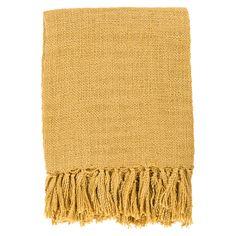 Surya Tilda Gold Throw Blanket @Zinc_Door