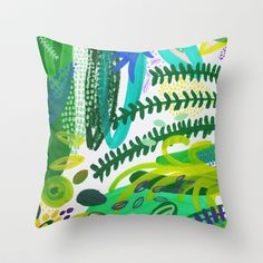 Between the branches. IV Throw Pillow by Milanesa - $20.00