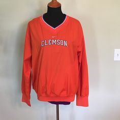 Clemson Tigers Pullover with Pockets  Women's Clemson Tiger Pullover. It is perfect for tailgating! It has two pockets and a side zipper. 100% polyester. Nike Jackets & Coats
