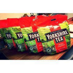 Best delivery EVER! 1920 Yorkshire Teabags. Who fancies a cuppa? #yorkshiretea #deskspace #kingslandroadstudio #deskspaceeastlondon #deskhire #co-working #kingslandroadstudio #eastlondon
