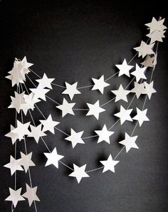 White Stars Garland - beautiful!