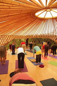 Yoga studio yurt