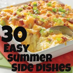 30 Easy Summer Side Dishes - Six Sisters Stuff