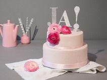 Cake Topper, Tortenfigur, Ja, silber, glitzer