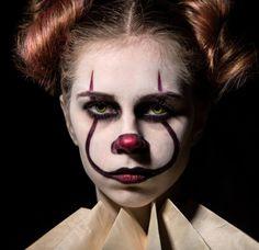 maquillaje de Halloween de payaso malefico