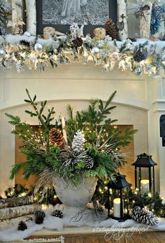 35 Beautiful Christmas Mantels - Christmas Decorating - Style Estate -