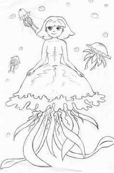 Jellyfish sketch by Atashi88.deviantart.com on @deviantART