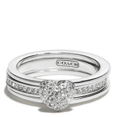 Coach :: Sterling Pave Heart Convertible Ring -Only thing from Coach I've ever really wanted! LOL!!!