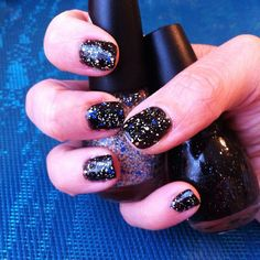 Sinful Colors Baila Baila layered over Starry Night