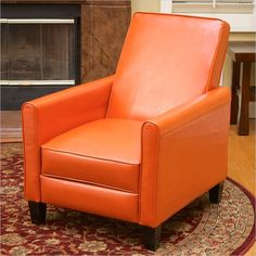 Lowest price online on all Trent Home Delouth Leather Recliner Chair in Orange - 224252CY