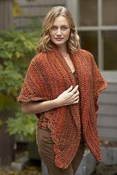Ravelry: Painted Shawl pattern by Lion Brand Yarn