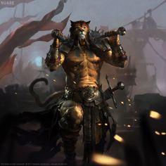 Avatar Khajiit, Nuare Studio on ArtStation at https://www.artstation.com/artwork/zomR2
