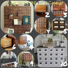 card catalog inspiration mood board