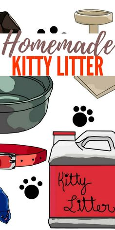 Homemade Kitty Litter — You will not believe what you can make your own cat litter out of. Bulk whole wheat, available from health food stores, makes a simple, sustainable cat litter.